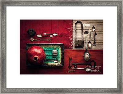 Spoons, Locks And Keys Framed Print by Ana V  Ramirez