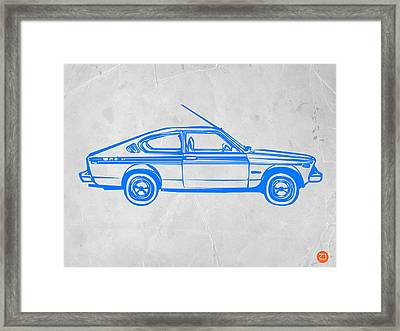 Sports Car Framed Print by Naxart Studio