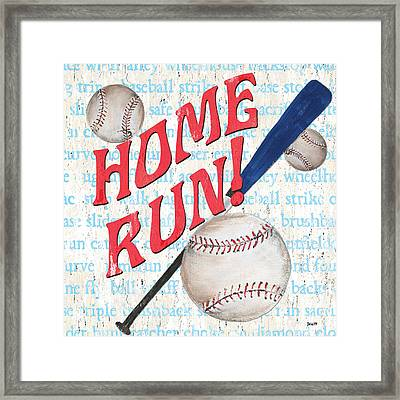 Sports Fan Baseball Framed Print by Debbie DeWitt