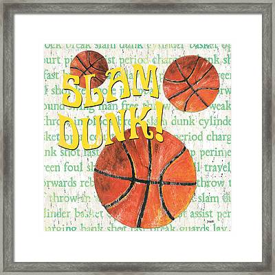 Sports Fan Basketball Framed Print by Debbie DeWitt