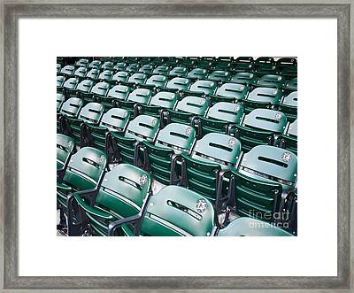 Sports Stadium Seats Picture Framed Print by Paul Velgos