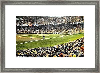 Sportsman's Park In St. Louis Mo 1943 Framed Print by Dwight Goss