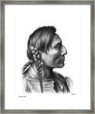Spotted Bull Framed Print by Greg Joens
