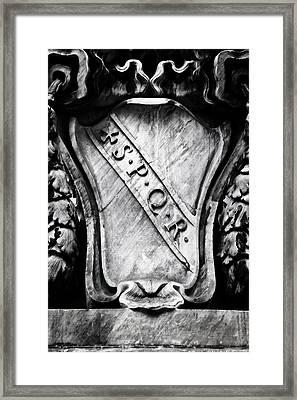 Spqr Framed Print by Joana Kruse