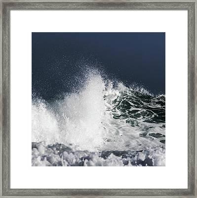 Spray Framed Print by Stelios Kleanthous