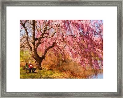 Spring - Sakura - A Beautiful Spring Day  Framed Print by Mike Savad
