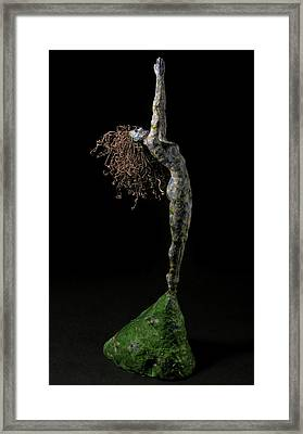 Blue Grapes Framed Print featuring the mixed media Spring A Sculpture By Adam Long by Adam Long