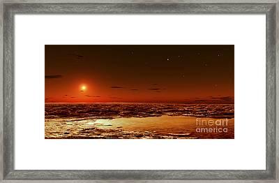 Spring Arrives Near The Martian Polar Framed Print by Frank Hettick
