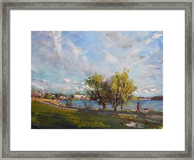 Spring At Gratwick Waterfront Park Framed Print by Ylli Haruni
