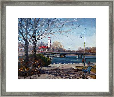 Spring At Port Credit Framed Print by Ylli Haruni
