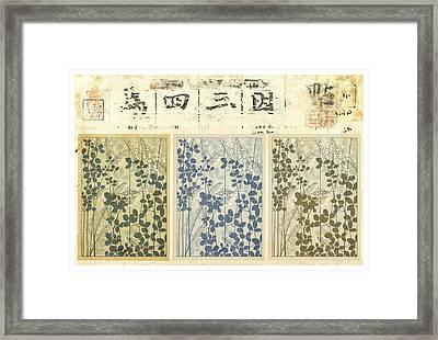Spring Botanical Design Framed Print by Carol Leigh