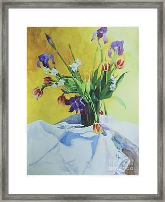 Spring Bouquet Framed Print by Elizabeth Carr