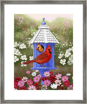 Spring Cardinals Framed Print by Crista Forest
