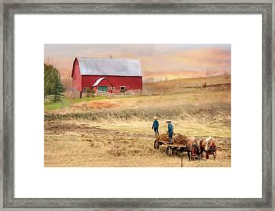 Spring Chores Framed Print by Lori Deiter