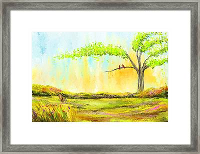 Spring Day - Spring Paintings Framed Print by Lourry Legarde