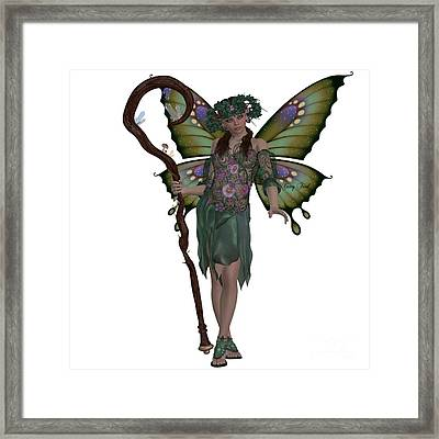 Spring Fairy Framed Print by Corey Ford