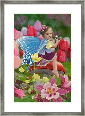 Spring Fairy Framed Print by Lucie Bilodeau