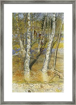 Spring Flood Framed Print by Carl Larsson