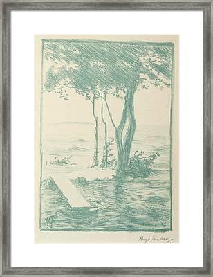 Spring Flood Framed Print by Hugo Simberg