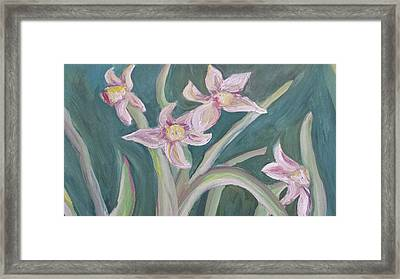 Spring Flowers Framed Print by Cherie Sexsmith