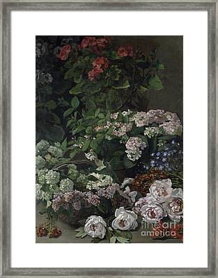 Spring Flowers Framed Print by Claude Monet