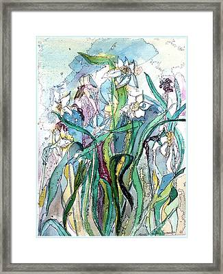 Spring Frenzy Framed Print by Mindy Newman