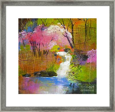 Spring Garden Framed Print by Melody Cleary