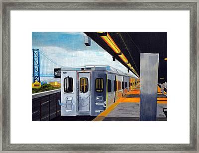 Spring Garden Station Framed Print by Michael Walsh