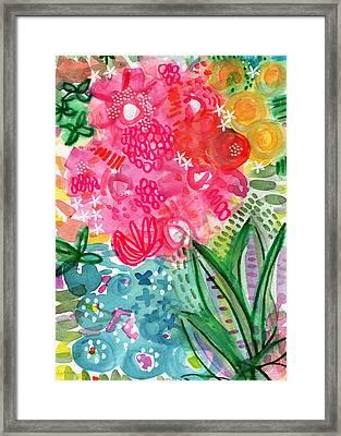 Spring Garden- Watercolor Art Framed Print by Linda Woods