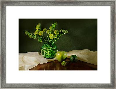 Spring Green Framed Print by Diana Angstadt