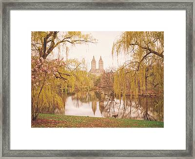 Spring In Central Park Framed Print by Vivienne Gucwa