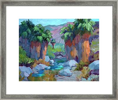 Spring In Indian Canyon Framed Print by Diane McClary