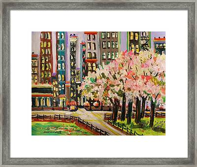 Spring In The City Framed Print by John Williams
