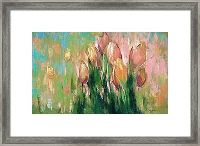 Spring In Unison Framed Print by Anastasija Kraineva