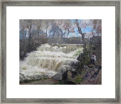 Spring In Williamsville Falls Framed Print by Ylli Haruni