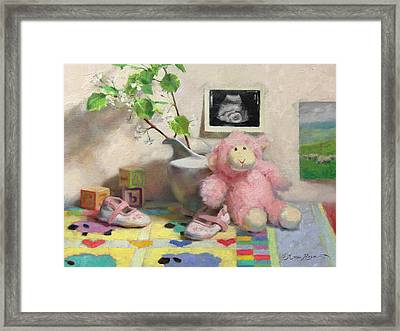 Spring Lambs Framed Print by Anna Rose Bain