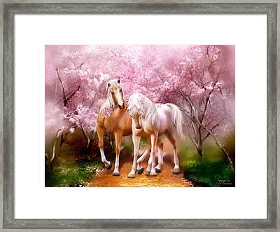 Spring Love Framed Print by Carol Cavalaris