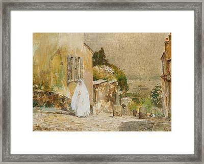 Spring Morning At Montmartre Framed Print by Childe Hassam