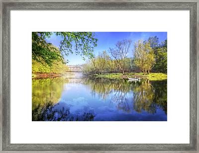 Spring On The River Framed Print by Debra and Dave Vanderlaan