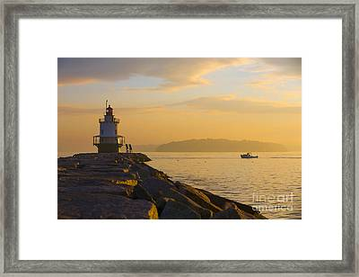 Spring Point Lighthouse At Dawn. Framed Print by Diane Diederich