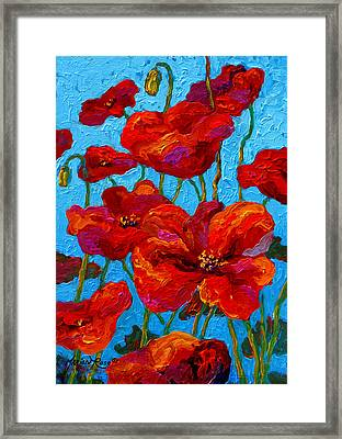Spring Poppies Framed Print by Marion Rose