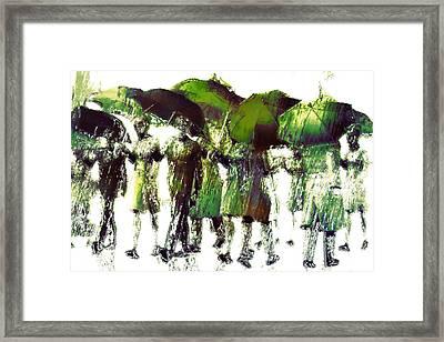 Spring Rain Framed Print by Carol and Mike Werner