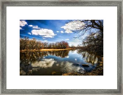 Spring Reflection - Wisconsin Landscape Framed Print by Jennifer Rondinelli Reilly
