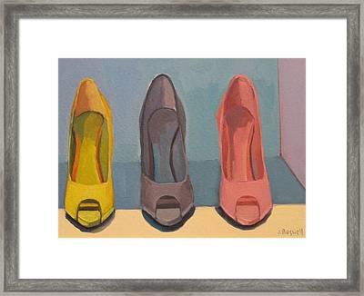 Spring Shoes Framed Print by Jennifer Boswell