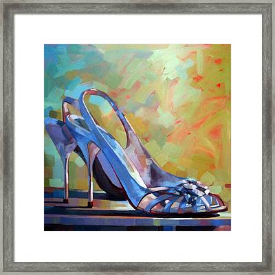 Spring Shoes Framed Print by Penelope Moore