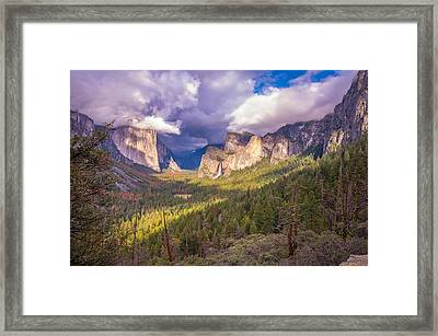 Spring Storm In Yosemite Valley Framed Print by Scott McGuire