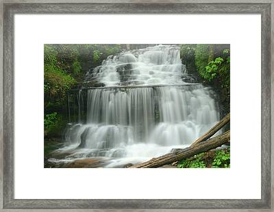 Spring Wagner Falls Framed Print by Dean Pennala