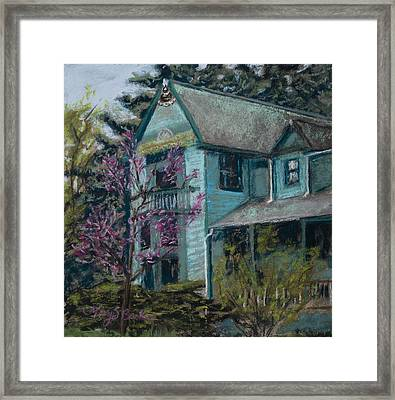 Springtime In Old Town Framed Print by Mary Benke