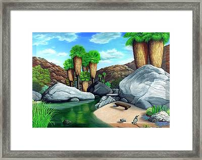 Springtime In The Canyons Framed Print by Snake Jagger