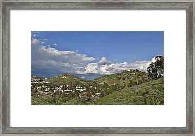 Springtime Over The Orange County Hills Framed Print by Linda Brody